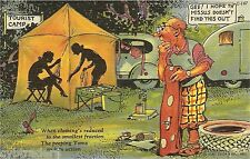 Vintage Travel Trailer Art Comic Peeping Tom  Refrigerator / Tool  Box  Magnet