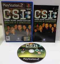 SONY Playstation 2 PS2 Play Station PAL ITALIANO CSI OMICIDIO IN 3 DIMENSIONI IT
