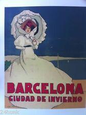LARGE NEW Art Poster BARCELONA CUIDAD De INVIERNO