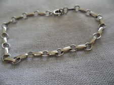 VINTAGE JEWELLERY STERLING SILVER CHAIN BRACELET 18 CM ANTIQUE DECO JEWELRY 18cm