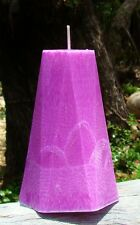 120hr Violets & Baby Powder Triple Scented Geometric Natural Healthy Candle