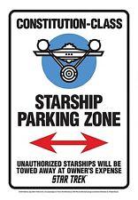 Star Trek Starship Parking Zone Letrero Metal (nm