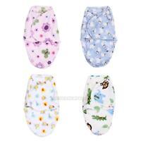 Fleece Soft Newborn Baby Swaddle Wrap Blanket Sleeping Bag for 0-6 Months Infant