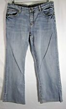 Cowgirl Up Jeans Sz 14 Regular Fit Medium Wash Boot Cut Don't Fence Me In