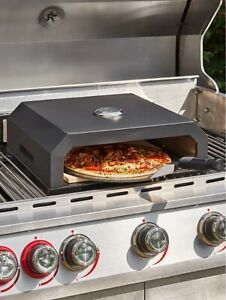 Outdoor Pizza Oven Grill BBQ Top Garden Portable With Paddle Temperature Gauge