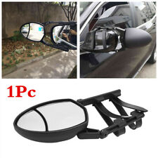 1Pc Clip-On 2in1 Dual View Oval Car Wing Mirror Extension Trailer Towing Mirror