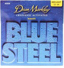 Dean Markley 2036 Blue Steel Acoustic Guitar Strings  med light gauges 12-54