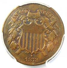 1872 Two Cent Coin 2C - Certified PCGS XF Details (EF) - Rare Certified Coin!