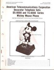 Vintage Mickey Mouse 14 Page Phone  ATC telephone Walt Disney 1977 Paperwork
