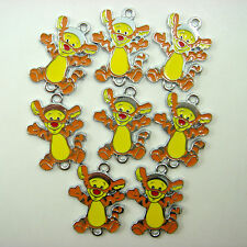 NEW 8 pcs Winnie The Pooh Tigger Jewelry Making Metal Figure Charms Pendant Gift