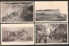 Japan: 4 alte Ansichtskarten ~ Jahr 1920  ungelaufen