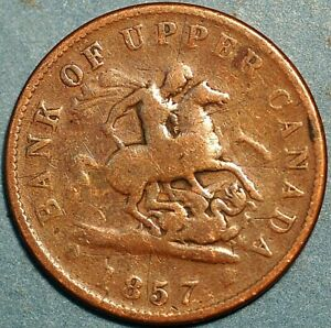 1 Penny 1857 Bank of Upper Canada P541