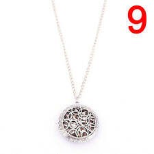 Silver Locket Necklace Aromatherapy Fragrance Essential Diffuser Pendant Fad.