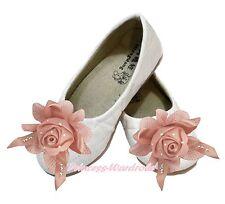 Pink Rose Flower White Diamond Plaid Enamel Wedding Party Girl Shoes 898-4