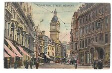 COMMERCIAL STREET, NEWPORT, MONMOUTHSHIRE used antique postcard  1906 postmark