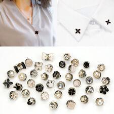 10Pcs Fashion Women Pearl Button Brooch Pins Badge Cufflinks Buttons DIY Clothes