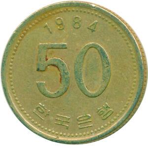 COIN / SOUTH KOREA / 50 WON 1984   #WT14664