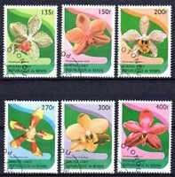 Flora - Orquideas Benin (9) serie completo de 6 sellos matasellados