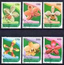 Flore - Orchidées Bénin (9) série complète de 6 timbres oblitérés