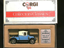 CORGI COLLECTORS CLASSICS C862/3. 1910 RENAULT 12/16. BLUE, WHITE HOOD. BOXED.