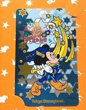 Tokyo Disneyland 15th Anniversary Phone Card 1998 Mickey Mouse Disney F/S JAPAN