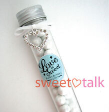 WEDDING FAVOUR, BOMBONIERE CANDY TEST TUBE, CHOCOLATES INCLUDED