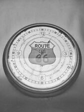 Wand Uhr Eisen D.60cm Route 66 Geschenk in Antik Deko Vintage Clock Eycatcher Antyki i Sztuka