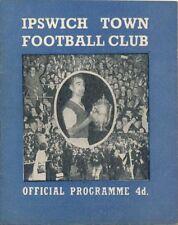 Championship Football League Fixture Programmes (1958-1969)