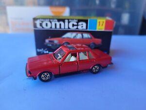 TOMICA 17 - NISSAN BLUEBIRD 910 SSS TURBO [RED] VHTF NEAR MINT BOX GREAT JAPAN
