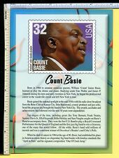Count Basie USPS JAZZ LEGEND Jumbo 5x7 Postcard; post card; 2000; EX/NM