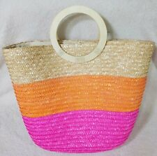 Shiraleah Fiesta Woven Tote Bag Multi-Color Stripe New with Tag