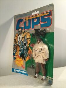 MOC Cops N Crooks Bullet-Proof Federal Agent 1988 Hasbro