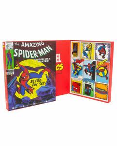 Official Marvel Spider-Man Retro Pin Badge Set- DAMAGED BOX