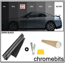 20% Dark Black Smoke Window Tinting Film Tints Kit for Car Kitcar SUV 50cm x 3m