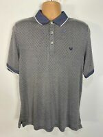 BNWT MENS LINCOLN MATALAN LARGE BLUE MIX SHORT SLEEVE PATTERNED POLO TOP T-SHIRT