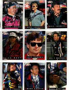NASCAR 1995 authentic autographed Finish Line 41 card lot NO RESERVE