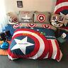 Captain America Single/Queen/King Bed Doona Quilt Duvet Cover Set 100% Cotton