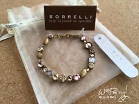SORRELLI Crystal & Cabochon Classic Bracelet in BEACH COMBER BAQ3AGBCM NWT $100