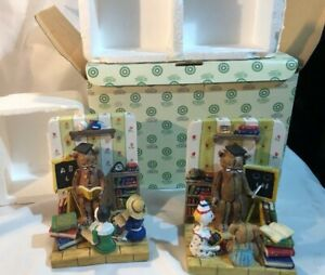 Teaching Students School vintage Book Ends by SHUDEHILL giftware - Still Boxed