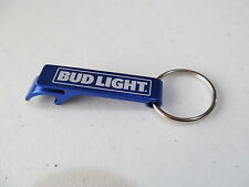 BUD LIGHT BOTTLE OPENER KEYCHAIN new metal blue BL beer key ring 2.25""