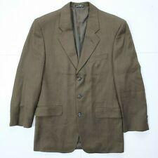 Oleg Cassini Women's Blazer Sz 38R 100% Pure Wool RN 46774 Brown Suit Jacket