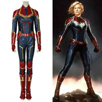 Captain Marvel Ms. Carol Avengers Cosplay Costume Halloween Party Show Carnival