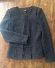 Isabel Marant Grey 100% Superfine Merino Wool Jacket Blazer Size FR 38 UK 8 10 S