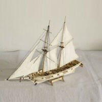 1:100 Scale Mini Wooden Sailboat Ship Kit Boat Toy Gift DIY Model Decoration New