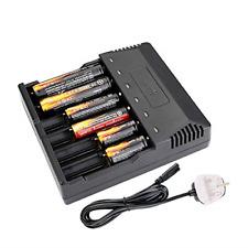 18650 Smart caricabatteria intelligente universale 6 Slot Caricabatterie Carica rapida