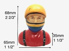 "1/6 Pilot Figure w/ Helmet RC Plane Car Models 2 2/3""x2 1/2""x1 1/3"" TH031-01703A"