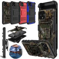 For Google Pixel 4/4 XL Case Hybrid Rugged Kickstand Belt Clip Holster TPU Cover