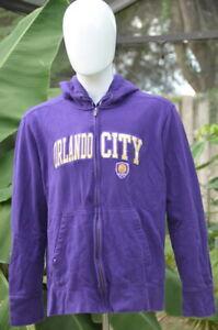 Antigua MLS ORLANDO CITY SC Hoodie Soccer Purple | Size XL