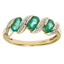 Emerald Good Cut I1 Fine Diamond Rings