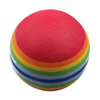 50pcs Golf Swing Training Aids Indoor Practice Sponge Foam Rainbow Balls X3U2